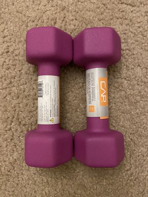🔥 CAP Hex Neoprene 5 lb Pound Set of 2 Dumbbell Weights *FAST SHIPPING * for Sale in Centreville, VA