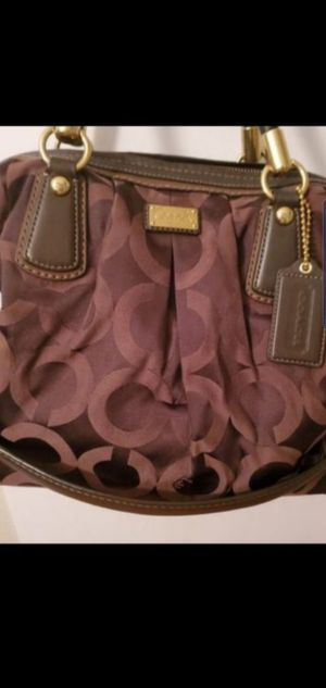 COACH (large)SATEEN SIGNATURE BAG,LIKE NEW !!!! for Sale in Austin, TX