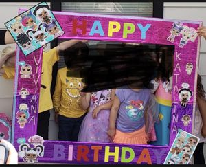 Free LOL Surprise dolls party Photo prop for Sale in San Francisco, CA