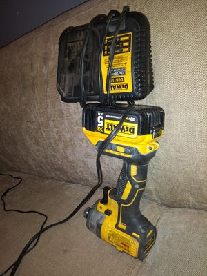Dewalt impact battery and charger for Sale in Indianapolis, IN