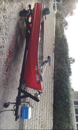 Aluminum fishing boat and trailer for Sale in Escondido, CA