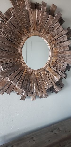Stripar starbust wooden wall mirror for Sale in Dallas, TX