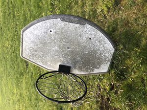 Adjustable basketball hoop and backboard. for Sale in Mansfield, OH
