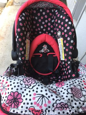 Minnie Mouse baby scroller car seat combo only 2 months old for Sale in Valdosta, GA