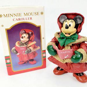 "Vintage Santa's World Disney - 7.5"" Minnie Mouse Caroller - Fabric Mache - Item No. W1520 for Sale in Trenton, NJ"