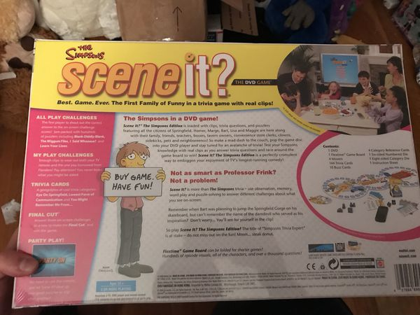 Simpson's trivia game 2009 scene it