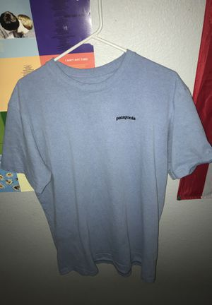 light blue patagonia tee size large for Sale in Clovis, CA