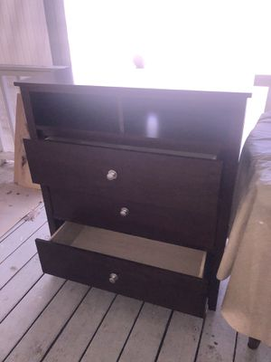 Dark brown wood dresser for Sale in Greensboro, NC