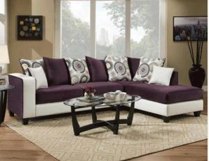 Living room sectional fabric finance available for Sale in Garland, TX