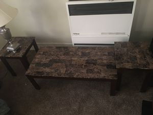 2 small tables and a middle table for Sale in Vallejo, CA