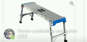 Werner scaffold - step ladder for Sale in Schenectady, NY