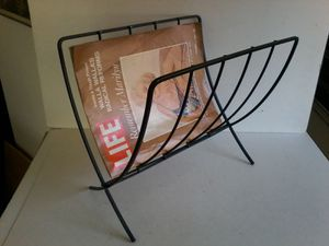 Mid Century Modern Black Steel Magazine Holder for Sale in Las Vegas, NV