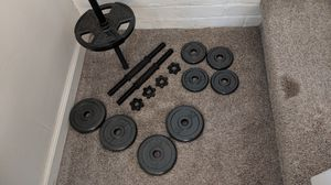 Barbell weight set for Sale in Campbell, CA