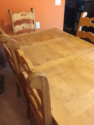 Mexican table and straw seated chairs for Sale in Sunnyvale, CA