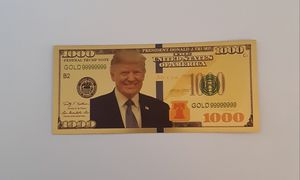 Gold Donald Trump 2020 1000 Dollar Bill - for Sale in Monroe, LA