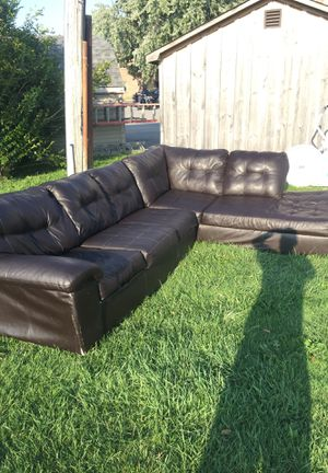 Leather couches used good condition 2 set piece for Sale in Hamburg, NY