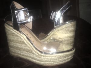 Rosalina Silver and Clear Wedges for Sale in Ontario, CA