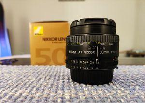 Nikon 50mm 1.8 D Caps + Box Manual for Sale in Orlando, FL