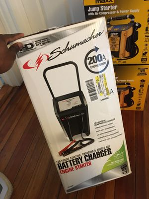 Brand new car jump starter for with air compressor and power supplies for only $60 for Sale in North Attleborough, MA