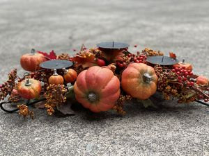 Fall Pumpkin Candle Holder For home or table decor for Sale in Seattle, WA