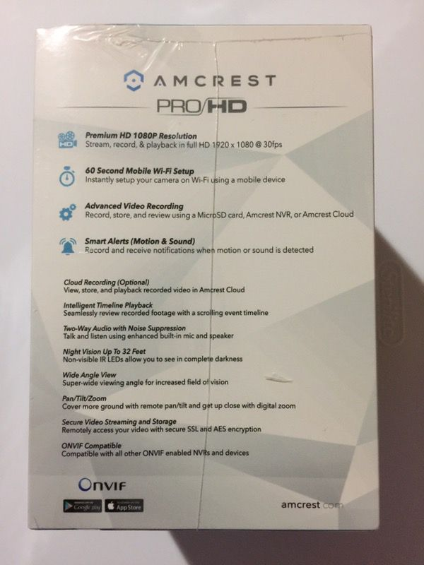 Amcrest pan/tilt 1080p wifi camera for Sale in Brooklyn, NY - OfferUp