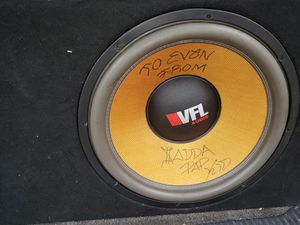 Vfl 18 3k rms dual 1! In a tc designs box!!! 600$. for Sale in Middletown, OH