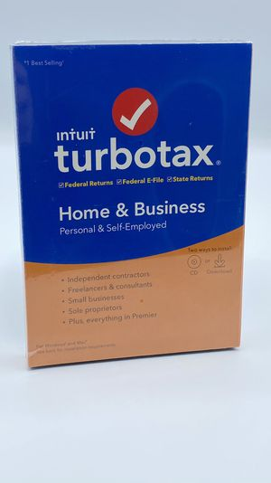 Intuit turbotax home and business 2019 - new cd or download for Sale in Stockton, CA