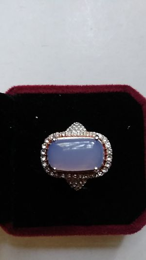 Size 8 opal lab created silver 925 plated ring for Sale in Richmond, CA