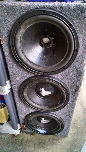 """JL audio 10"""" speakers in box for Sale in Tacoma, WA"""