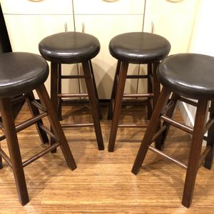 Marta Wooden Bar Stools (set of 4) for Sale in Seattle, WA