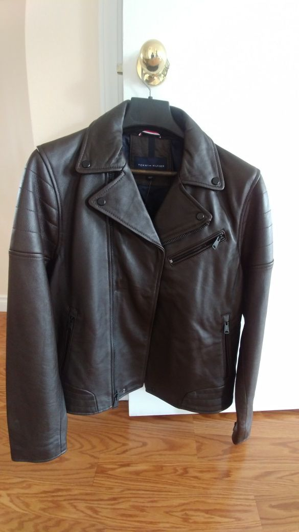 Brand New Tommy Hilfiger Leather Classic Jacket
