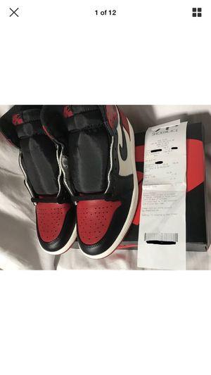 """Nike Air Jordan 1 """"Bred Toe"""" 2018 Deadstock Size 9 for Sale in Miami, FL"""