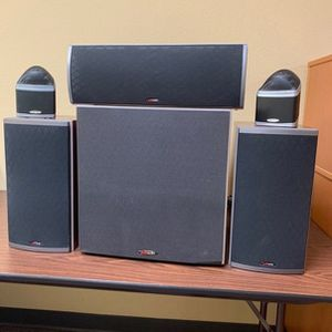 Polk Audio Speaker Set With Center Channel, Subwoofer And Satellite Speakers for Sale in Fountain Valley, CA
