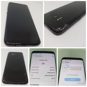 *CRACKED BACK* 64GB FACTORY UNLOCKED GALAXY S8. 100% FULLY FUNCTIONAL. SCREEN IS IN LIKE NEW CONDITION FOR $120 FIRM. PU IN NW OKC. for Sale in Oklahoma City, OK