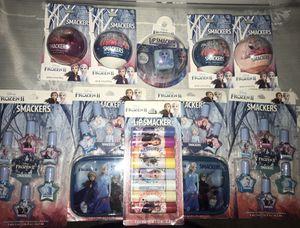 Frozen II lip smackers bundle: nail polish, chapstick, bath bombs $20 for Sale in S CHESTERFLD, VA