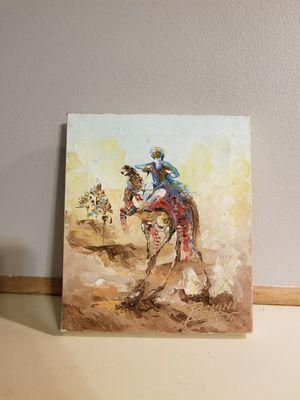 Tuareg man leading camel train in the Sahara desert for Sale in Centreville, VA