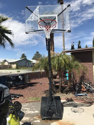 Portable basketball nxt54 hoop newly assembled for Sale in North Las Vegas, NV