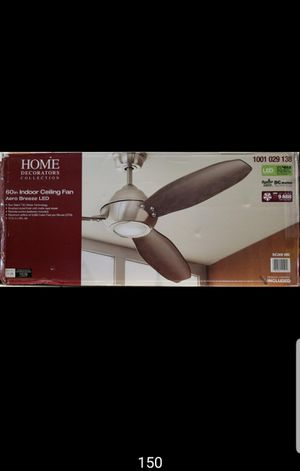 60 inch indoor ceiling fan with LED lights and remote control for Sale in Bakersfield, CA