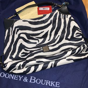 Like New Dooney & Bourke Zebra Print Leather Hobo Shoulder Bag/Purse $100.00 USD O.B.O for Sale in Benicia, CA