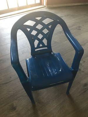 Kids plastic blue chair for Sale in Chula Vista, CA