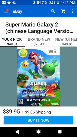 Mario Galaxy 2 WII for Sale in Sanger, CA