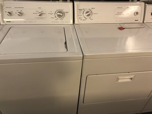 Used kenmore heavy duty washer and dryer. 1 year warranty for Sale in St. Petersburg, FL