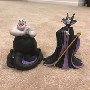 Disney Collectible Villain Figures Ursula & Maleficent for Sale in Plainfield, IL