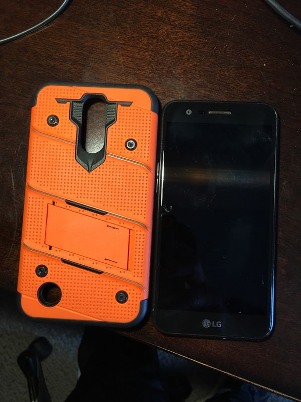 Lg k20 v phone and hard case with stand 6 months old