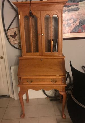 Selling Antique Wooden secretary desk bookcase for Sale in Washington, DC
