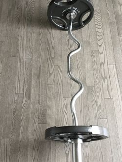 Brand New Olympic Curl Bar and 70lbs! for Sale in Hanover,  MD