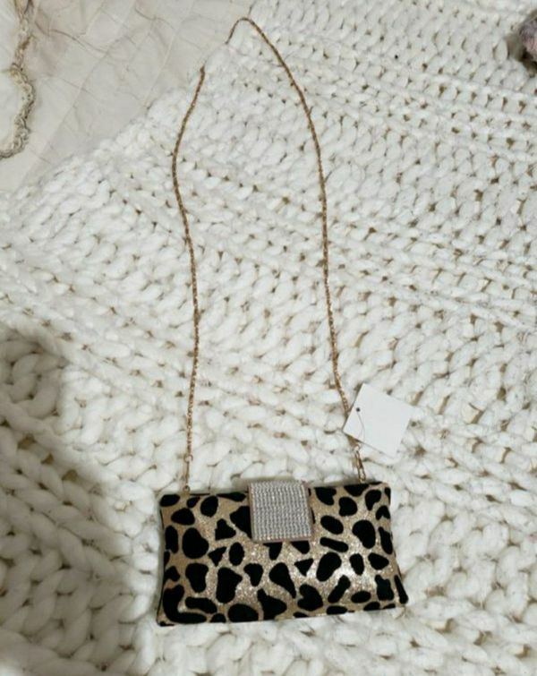 Leopard Glitter Clutch New