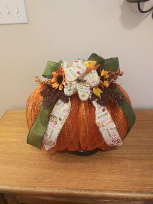 Decorative Fall Mesh Pumpkin Wreath for Sale in Sugar Hill, GA