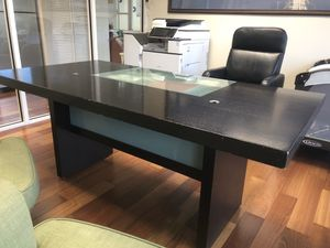 Wood and Glass Modern Executive Desk for Sale in Miami, FL