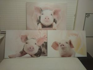 Floral Piggy Canvas Wall Art for Sale in Tampa, FL